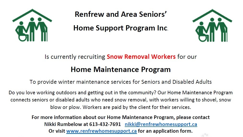 Home Maintenance Program, Snow Removal Workers