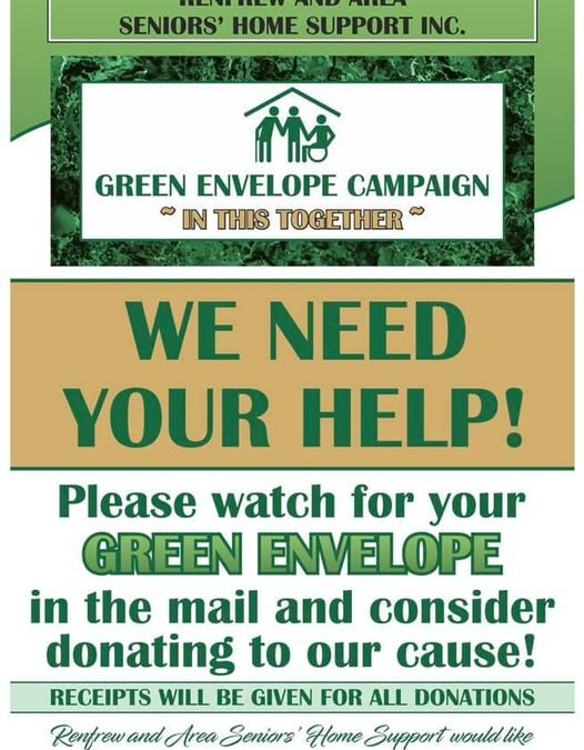 Green Envelope of Hope Fall Campaign